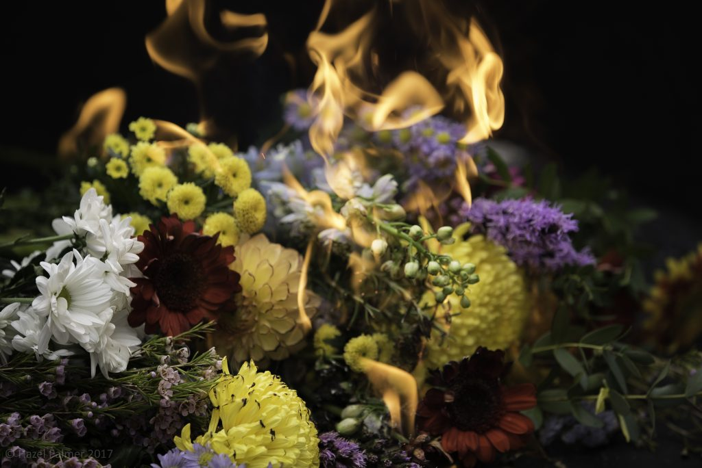 the burning scene