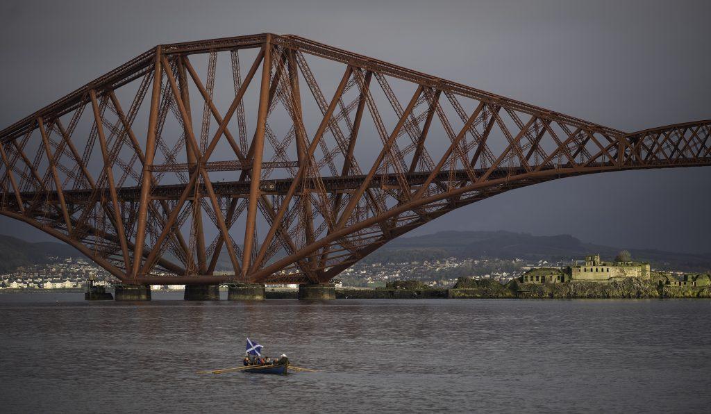 Forth Bridge, Island and Boat