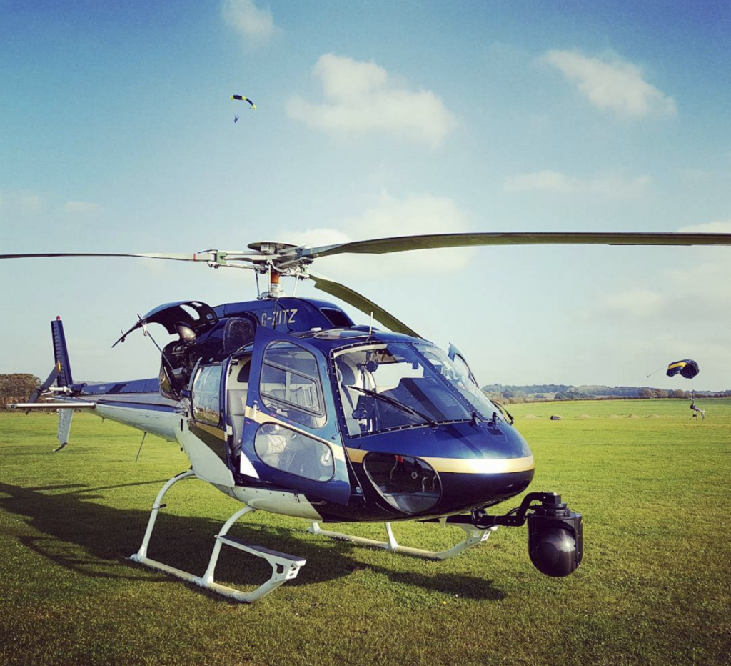 helicopter with GSS camera gimbal